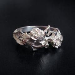 Unembellished roses ring -silver925-